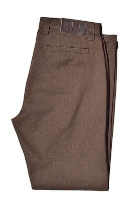 Fourstar Collective Men's Dark Khaki Brown Pant trousers CLEARANCE!