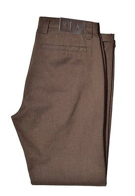 Fourstar Collective Men's Dark Khaki Brown Pants trousers CLEARANCE!