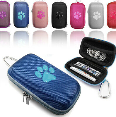 Durable Animal PAW Tough hard Fabric MP3 Player cover Clamshell Case Earphone