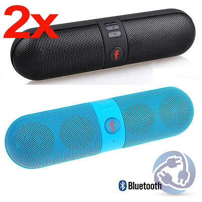 2X Portable Bluetooth  Wireless FM Stereo Speaker  For SmartPhone Tablet iPhone