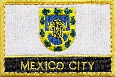 Mexico City Mexico Flag Embroidered Patch - Sew or Iron on