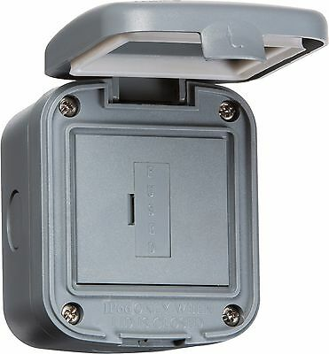 Knightsbridge IP66 Weatherproof 13A Fuse Power Connection Unit Wall Fused Spur