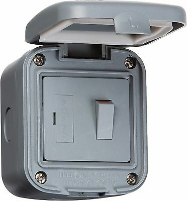 Weatherproof Switched Fused Spur IP66 Outdoor 13A SwitchedFused Spur Unit IP6300