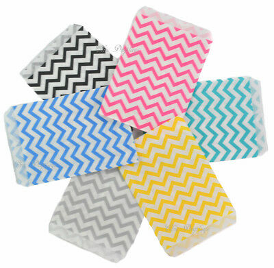 Lot Of 100 Gift Bags Store Bags Merchandise Bags Chevron Printed Jewelry Bags