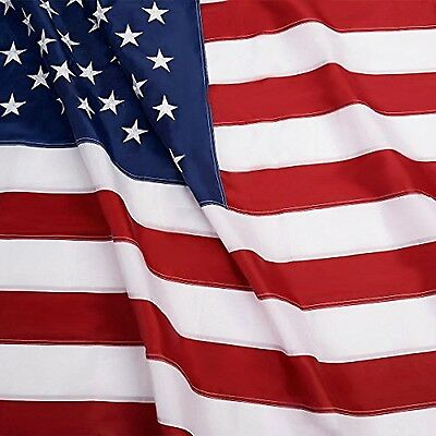 8x12 American Flag Made In Usa Stars Embroidered Sewn Grommets Nylon Stripes USA