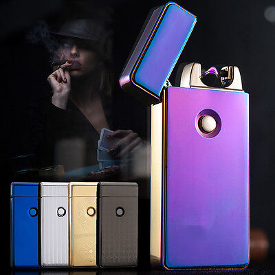 USB Windproof Lighter Rechargeable Cigarette Plasma SingleArc Flameless Electric