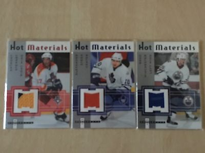 NHL Jersey Trading Cards Lot Of 3
