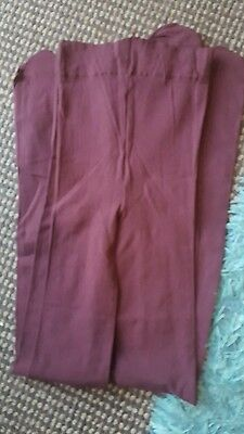 Two Pairs Of Girls Burgundy Tights Age 7-9 years