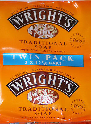 Wright's Traditional Soap With Coal Tar Fragrance Twin Pack