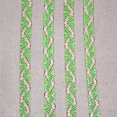 """Spring Green"" Vintage Japanese Obi Jime Traditional Obi Belt Cord Collectible"