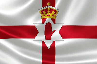 5ft x 3ft Fabric Northern Ireland Irish National Flag - Flags for Sale