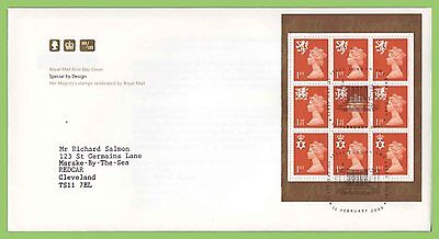 GB 2000 Special by Design Regionals Booklet Pane on Royal Mail FDC Earls Court