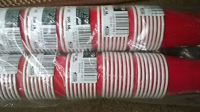 Wholesale Lot Of 192 Red Paper Cups For Hot & Cold Drinks 266Ml