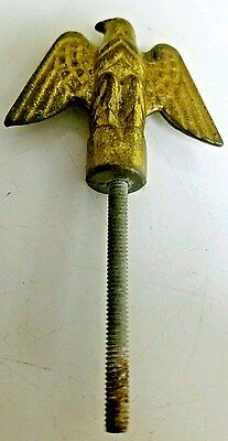 Vintage Brass Patriotic Eagle Finial Ornament Topper