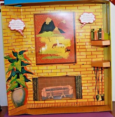 Vintage Barbie Repro #957 KNITTING PRETTY Diorama Cardboard 3-D Background