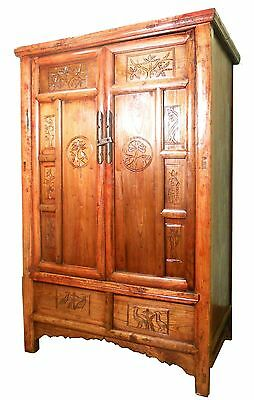 Antique Chinese Carved Cabinet (5611), Circa 1800-1849