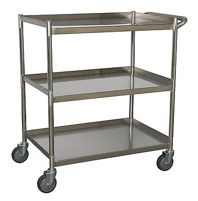 Sealey Workshop Trolley 3-Level Stainless Steel CX410SS