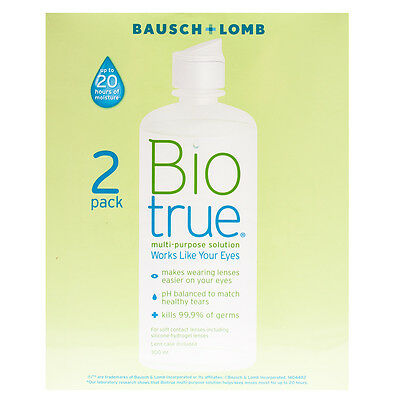 Biotrue multi-purpose contact lens solution 2 x 300 ml pack (Twin Pack)