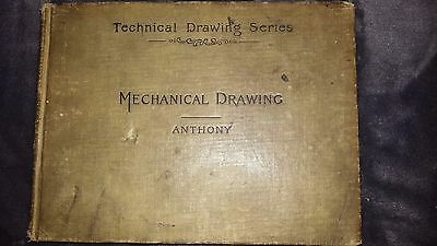 1907 Technical Drawing Series MECHANICAL DRAWING by Gardner Anthony-FREE SHIP!