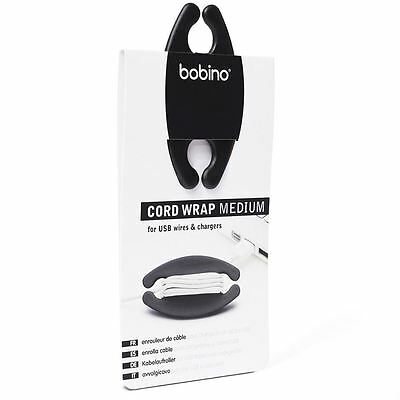 Bobino Cord Wrap For USB Wires and Chargers Large Black