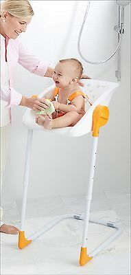 Toddler Free Standing Bathing Tub Seats Easy Baby Shower Chair No Bathtub Needed