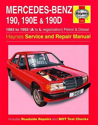 Haynes MERCEDES W201 190 190E 190D E Owners Service Repair Manual Handbook Book