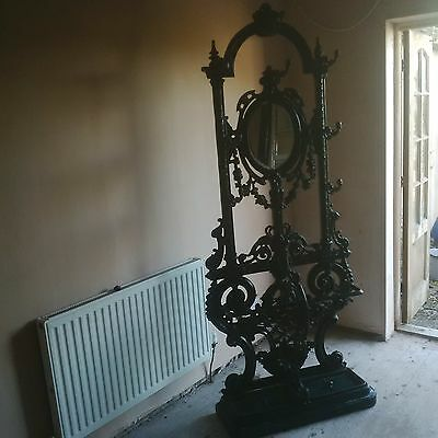 Victorian Cast Iron Hall Stand - Hat - Coat -Umberella Stand