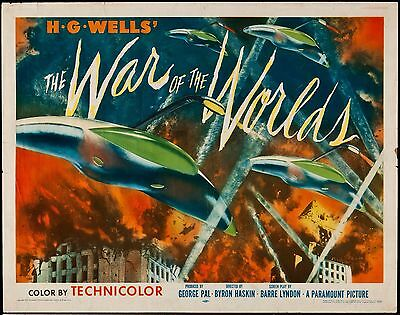Home Wall Print - Vintage Movie Film Poster - WAR OF THE WORLDS - A4, A3, A2, A1