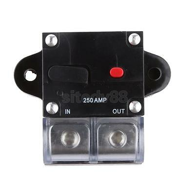 Car Truck Audio 250 Amp Amplifier Circuit Breaker Fuse Holder Protection 12 24V