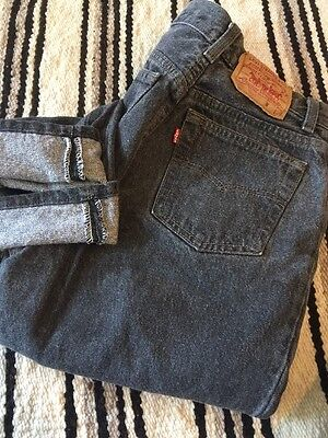 Vintage 1970's Levi's 501 High Waisted Hipster, Trendy Jeans. Sz 9 Faded Black