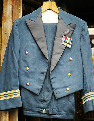squadron leader RAF mess dress by Gieves with miniatures