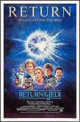 Home Wall Art Print - Vintage Movie Poster - RETURN OF THE JEDI 2-A4, A3, A2, A1