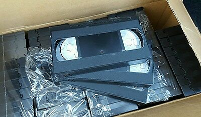 CASE / LOT OF 50 New Blank VHS T-5 STD Video Tapes 5 min