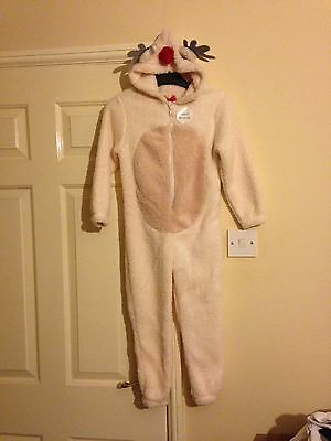 Brand New Kids Rudolph Christmas Onesie Size 5 To 6 Years Cosy Onesie Novelty