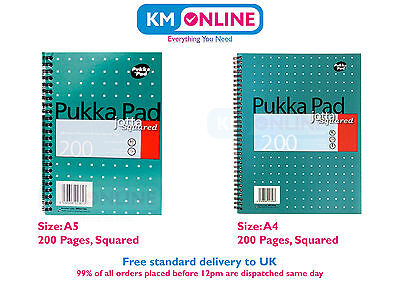 A4/A5 Jotta Memo 5mm Squared Notebook 200 Pages 80gsm Wirobound Pukka Pad