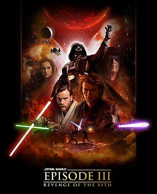 Home Wall Print - Vintage Film Movie Poster - REVENGE OF THE SITH 3- A4,A3,A2,A1