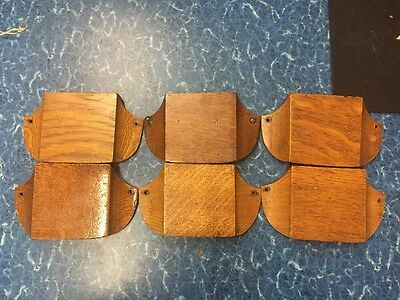Vintage Oak Tithe Envelope Pew Holders ....SET OF 6