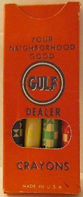 Gulf Gas Station Promo Box of Crayons Unopened New Old Stock