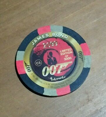 James Bond 007 Poker Chip Limited Edition of 3000 World Is Not Enough 1999