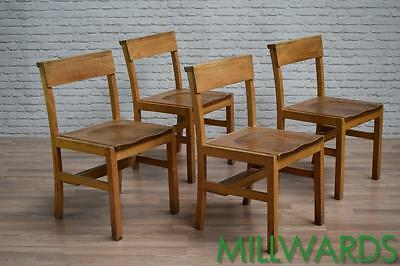 Vintage Industrial Mid Century Church Cafe Bar Restaurant Chairs 48 AVAILABLE