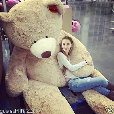 """HUGE SUPER TEDDY BEAR(ONLY COVER) PLUSH TOY SHELL (WITH ZIPPER) 102""""/260cm"""