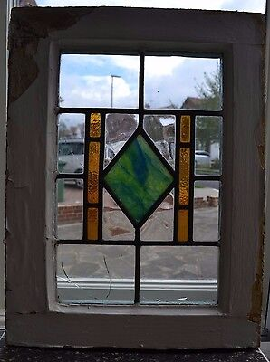 Art deco leaded light stained glass window. B258. WORLWIDE DELIVERY!!!