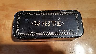 Vintage White Family Rotary Sewing Machine  Attachments Parts And Case