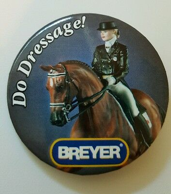 Breyer DO DRESSAGE Expression Porcelain Pin Collectible Button