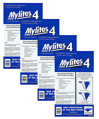 200 - E. GERBER MYLITES 4 CURRENT / MODERN 4-Mil Mylar Comic Bags Sleeves 700M4