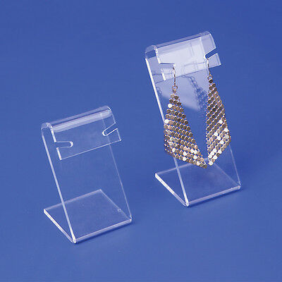 Lot Of 2 Clear Acrylic Earring Display Set Showcase Display Counter Top Stands