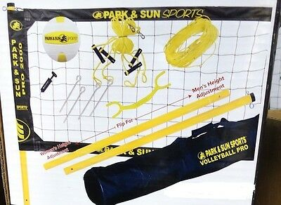 New Park & Sun Pro 2000 Portable Volleyball Net Complete System
