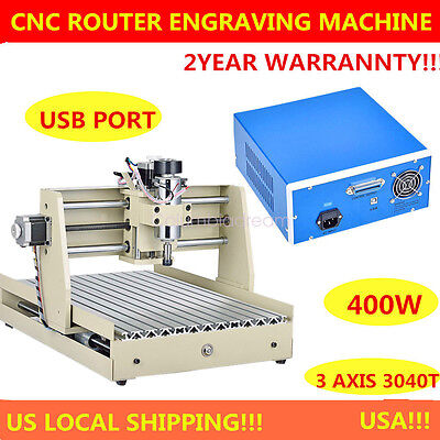 Usb 3040 400W Usb Cnc Router Engraver Engraving Cutter 3 Axis 3040T Tscrew  Port