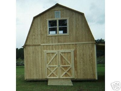 Two Story Barn Style Shed Plans 3 Sizes