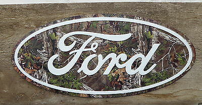 Ford CAMO Logo REALTREE Camoflauge Hunter Truck Garage Shop METAL SIGN